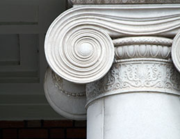 Photo of an ionic column. Link to Gifts That Protect Your Assets.