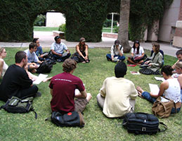 Photo of outdoor class. Link to Gifts of Retirement Plans.