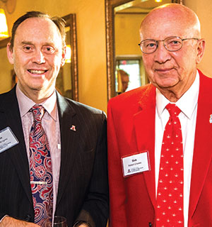 Photo of Dean of the College of Ag and Life Sciences, Shane Burgess (left), and Bob Charles (right)
